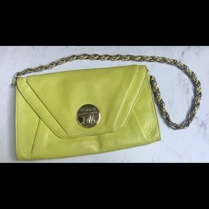 Elliott Lucca Neon Purse with gold chain strap